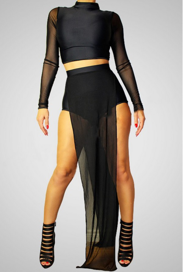 black dress mesh bodysuit mesh top bodycon dress bodycon