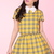 Glitters For Dinner — MADE TO ORDER - Yellow Tartan Clueless Set (top and skirt)