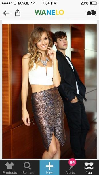 skirt bronze sparkly skirt