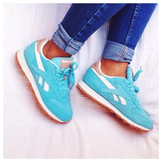 blue shoes reebok