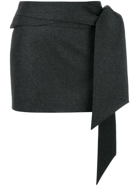 Chalayan skirt mini skirt mini women wool grey