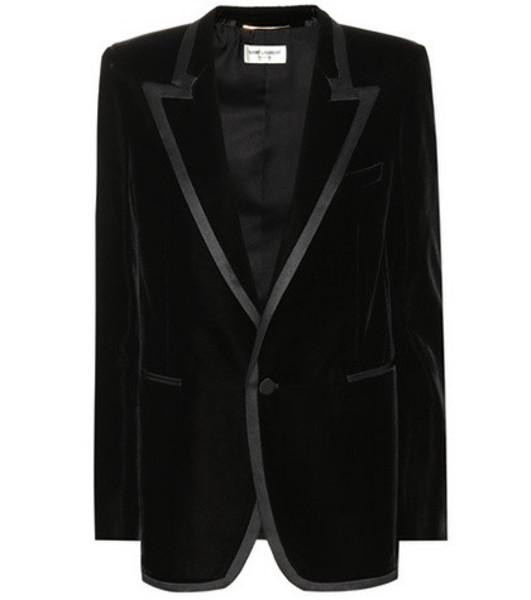 Saint Laurent Velvet blazer in black
