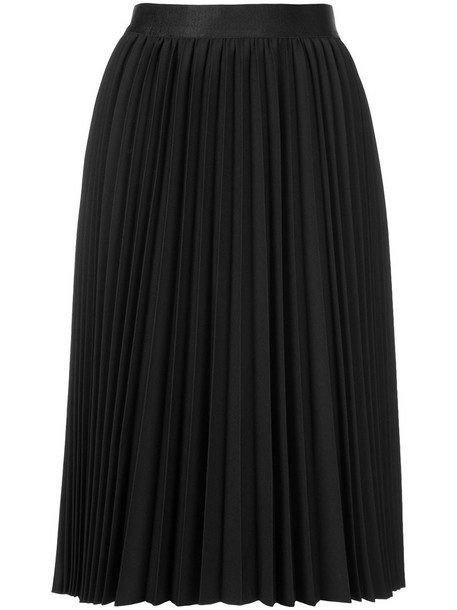 skirt midi skirt pleated women midi black wool