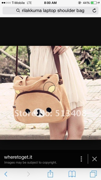 bag kawaii rilakkuma laptop bag
