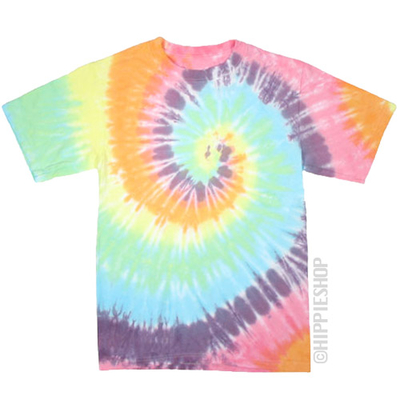 Pastel Spiral Tie Dye T Shirt on Sale for $16.95 at HippieShop.com