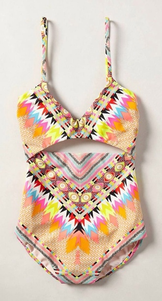 swimwear aztec colorful one piece pattern top colour bottoms colorful wild lovely perfect best vest twopiece