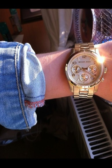 jewels gold watch stylish golden golden watch tumblr