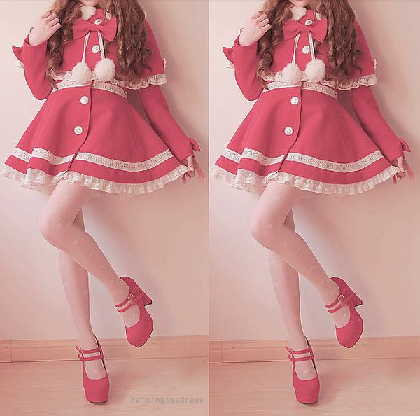 Jacket Kawaii Winter Outfits Girly Red Riding Hood