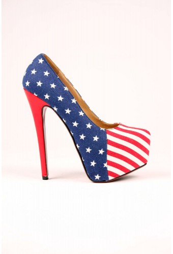 Madonna usa flag print platform court shoes now in stock