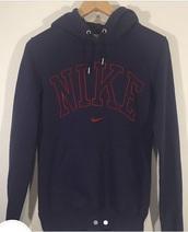 sweater,nike,navy,red,hoodie,jumper
