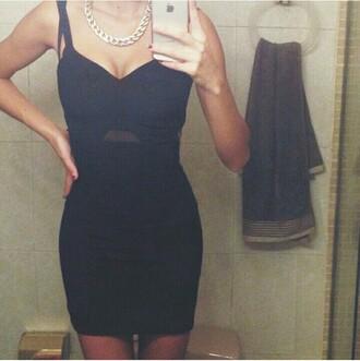 dress night dress party dress night parte clubwear dark black dress lbd new year's eve