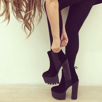 platform shoes boots high heels high heels.