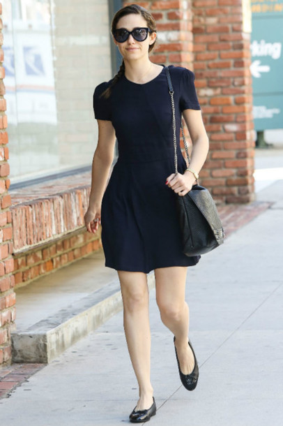 dress emmy rossum flats