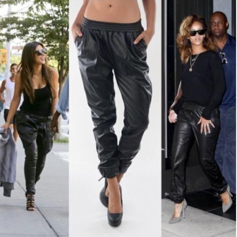 Pu leather baggy pants  / big momma thang
