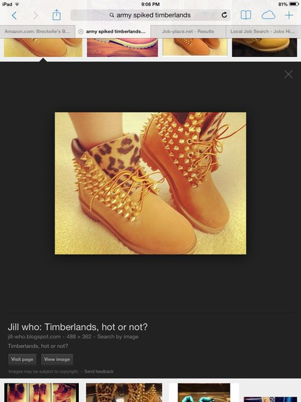 shoes spikes timblerlands tanned cheetah print