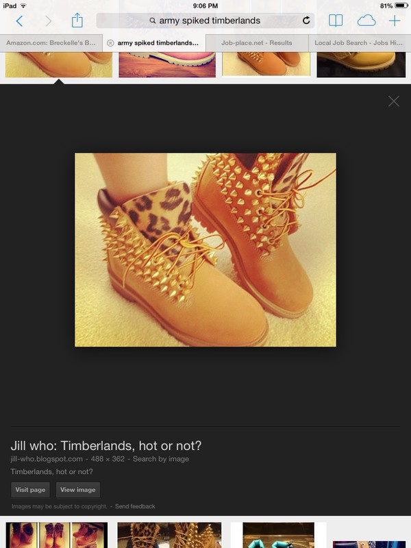 shoes timblerlands tanned spikes leopard print