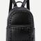 Black rivet pu front pocket backpack -shein(sheinside)