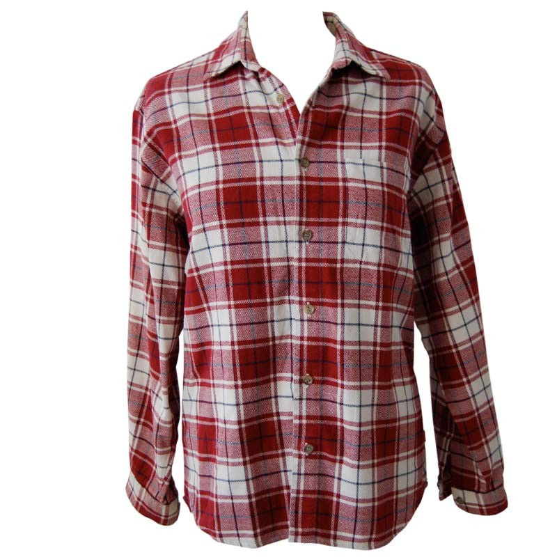 Vintage Red White Plaid Boyfriend Shirt (M) - Bows & Bandits - Austrian Vintage Clothing