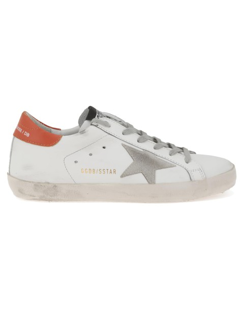 Golden goose white orange shoes