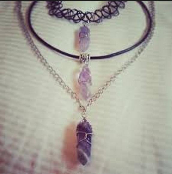 grunge jewels choker necklace choker necklace necklace charm charms tattoo choker crystal quartz 90s style jewellry jewelry