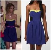 dress,blue dress,blue,hanna marin,ashley benson,pretty little liars