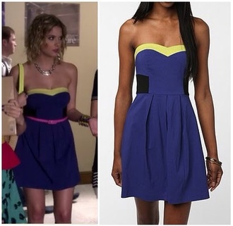 dress blue dress blue hanna marin ashley benson pretty little liars