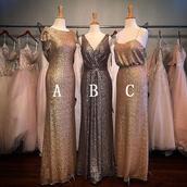 dress,bridesmaid,grey dress,sequined dresses,sleeveless dresses,bateau dresses,floor length dresses