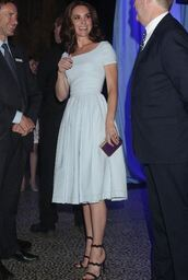 dress,midi dress,kate middleton,sandals,shoes