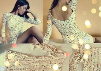 dress white dress open back open backed dress sparkling dress embelished dress