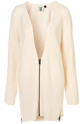 **rib zip cardi by unique