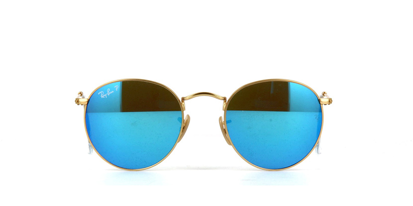 1d8063fbe412 Ray Ban Round Metal RB3447 112 4L Polarised Matte Gold Sunglasses