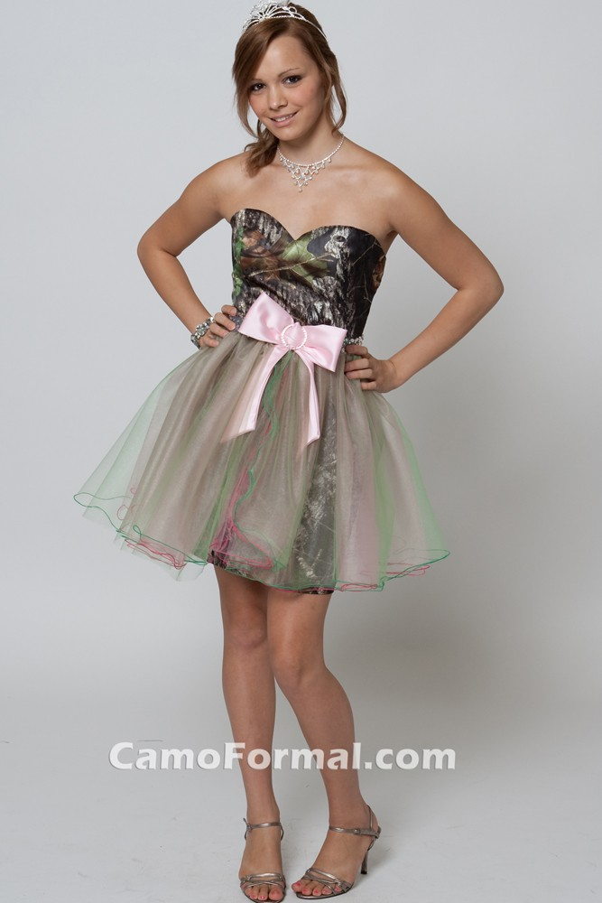 *hc 8076 short sweetheart with tulle skirt