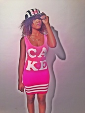 dress,cupcake mafia,pink,dope,cute,trill,jersey,cake,snapback,sexy
