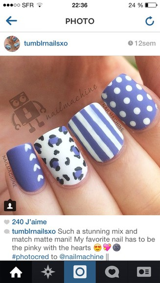 fashion blue nail polish nails art nails vintage