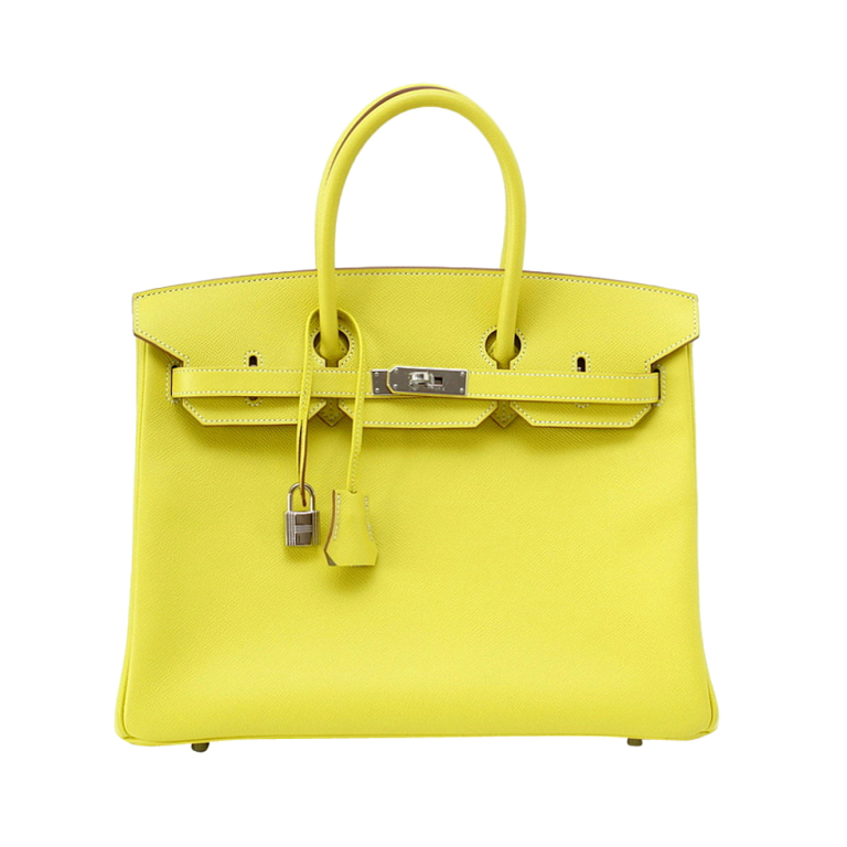 123a2aeb63fc HERMES BIRKIN 35 Bag Limited Edition Candy LIME gris interior ...