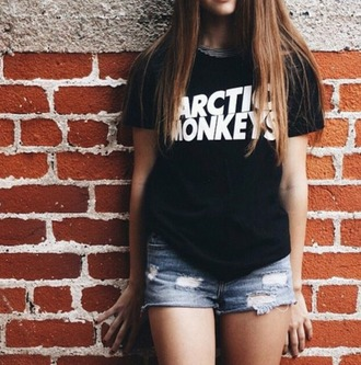 shirt black quote on it artic monkeys artic monkeys shirt am tumblr tumblr shirt tumblr outfit summer summer outfits beach boho bohemian pale grunge indie vouge chanel vintage hipster white outfit urban outfitters