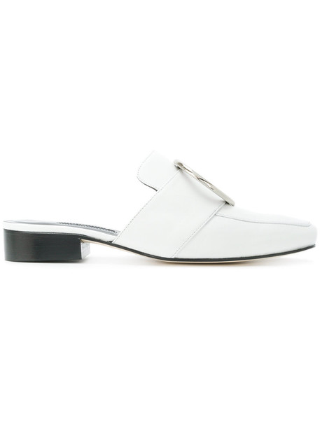 Dorateymur women mules leather white shoes