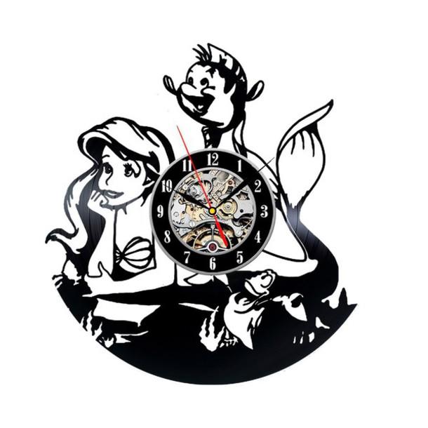 Home Accessory Little Mermaid Clocks Wall Clocks Little Mermaid