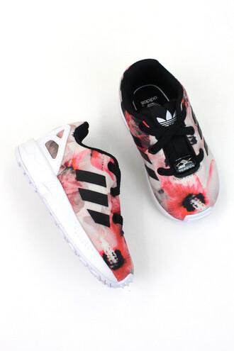 shoes adidas pink black white