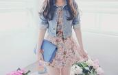 dress,jacket,denim jacket,floral,girly,bloemen,jurkjes,whear ?