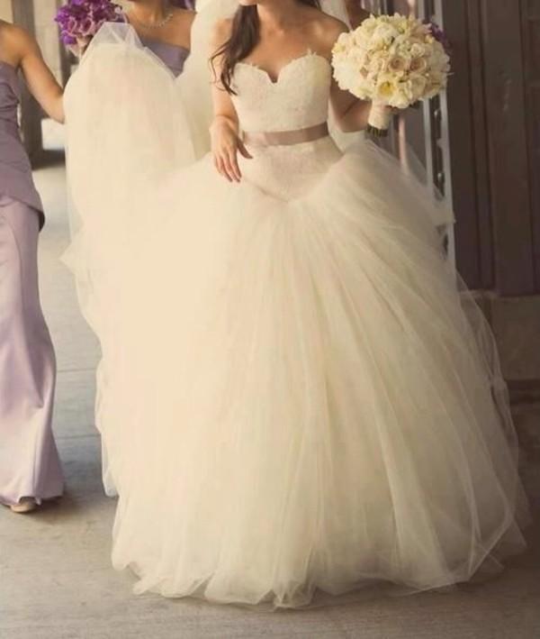 dress wedding dress white dress princess wedding dresses poofy dress wedding gown ball gown wedding dresses lace top wedding dress cute dress formal belt