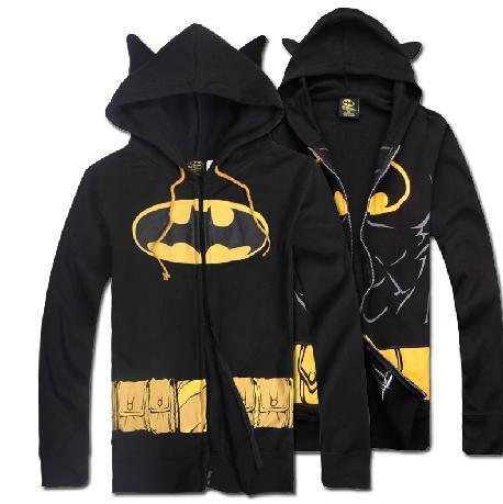 Men/women sweatshirt justice league batman movie masked costume hoodie cosplay zipper coat