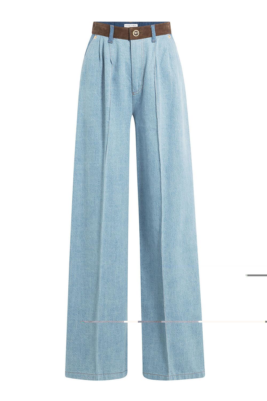 Sonia Rykiel - wide leg cropped jeans - women - Cotton - 40, Blue ...
