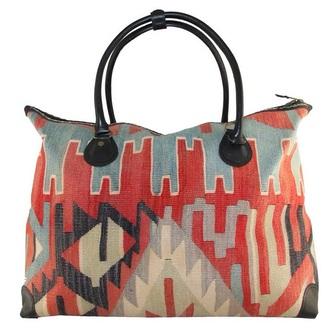 bag aztec boho red big bag big purse ethnic bohemian