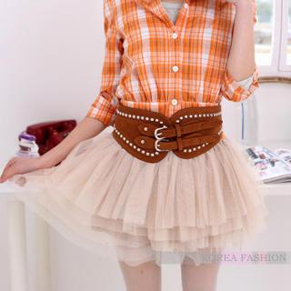 YESSTYLE: Ringnor- Elastic-Waist Layered Tulle Skirt (Off-White - M) - Free International Shipping on orders over $150