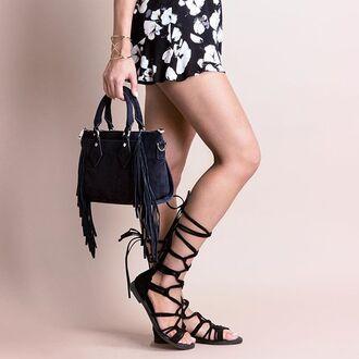 bag suede bag navy suede faux suede fringed bag purse fringe purse angl satchel bag