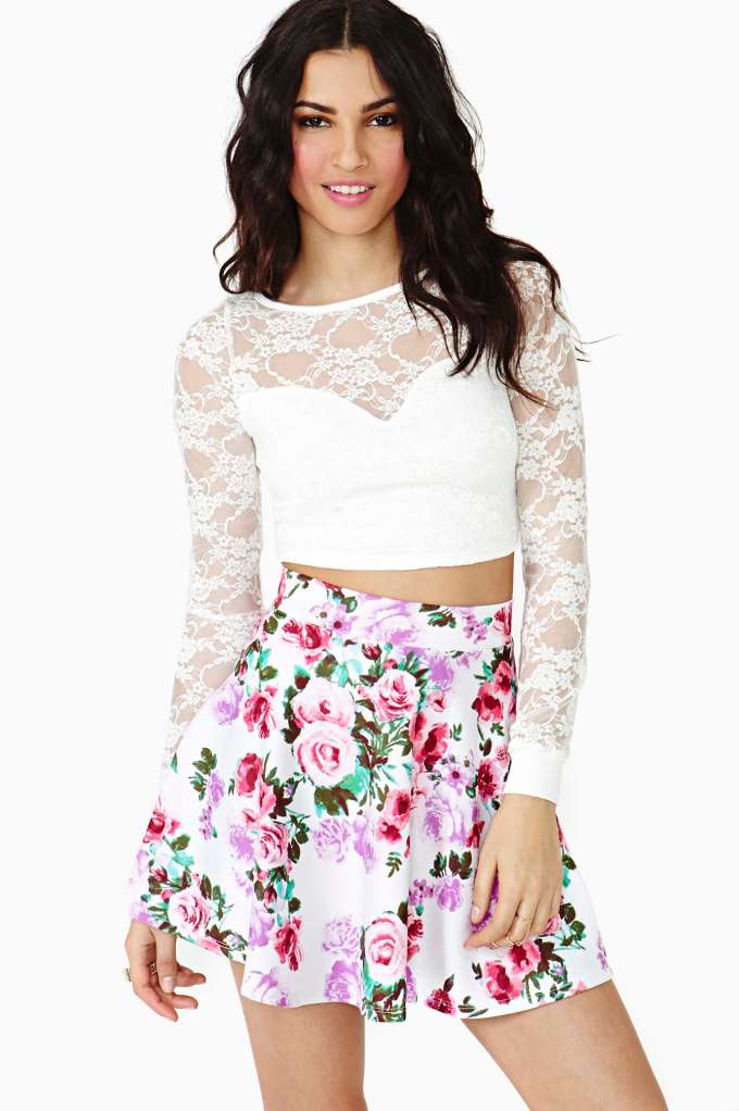 New Bloom Skater Skirt | Shop What's New at Nasty Gal