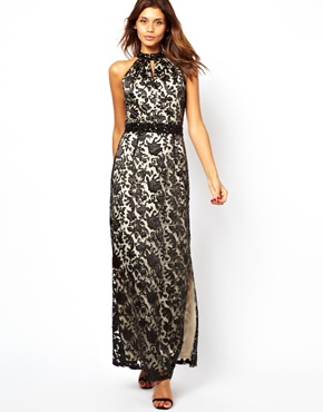 Little Mistress | Little Mistress Lace Layered Maxi Dress at ASOS