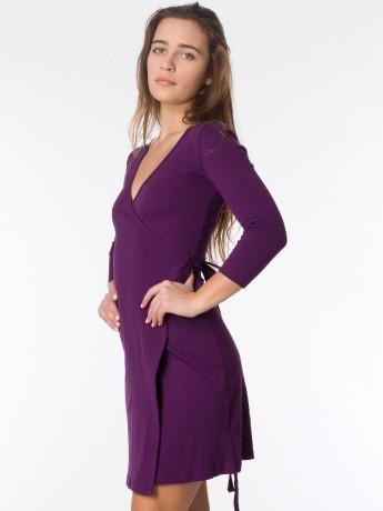 Interlock Wrap Dress   Shop American Apparel