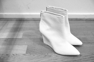 shoes white boots ankle boots heels